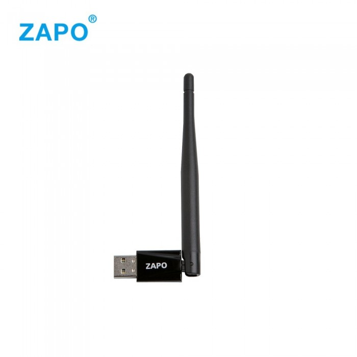 ZAPO W88 RTL8188 150Mbps Wireless USB Network Card WiFi Adapter Receiver Transmitter Black