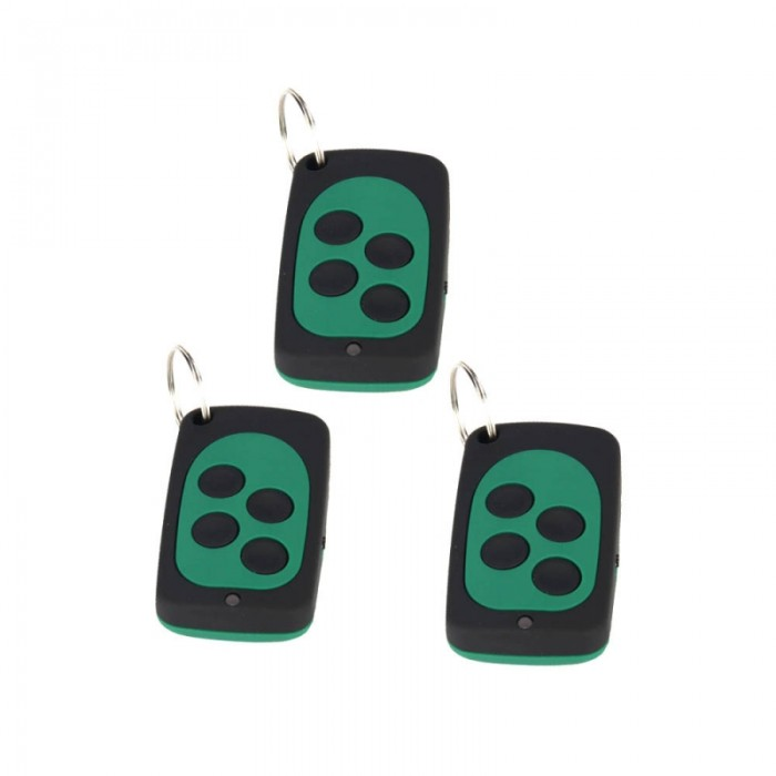 3PCS wireless control universal copy remote control (black + green)