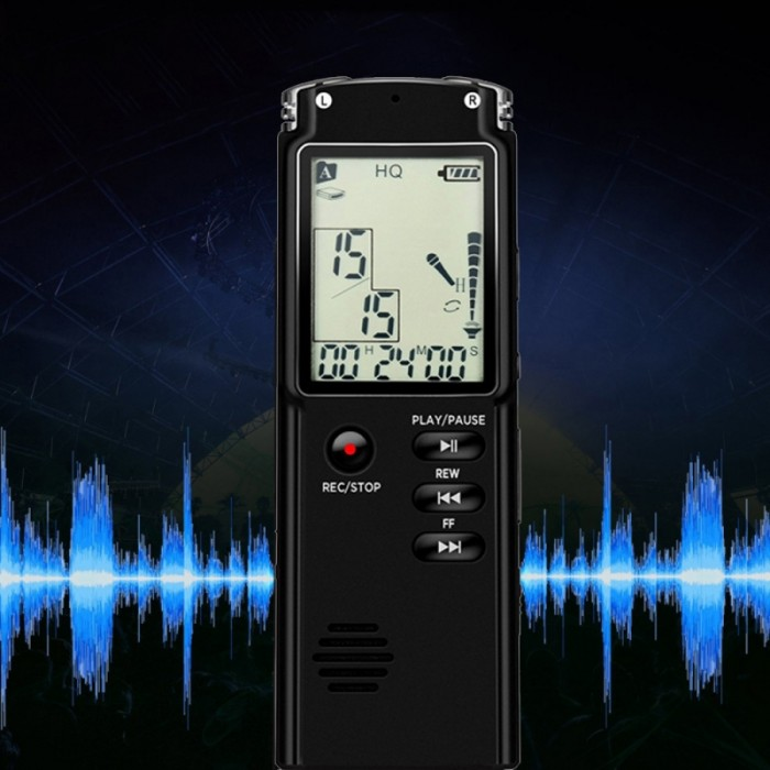 8GB USB Digital Voice Recorder Professional 96 Hours Dictaphone With WAV MP3 Player