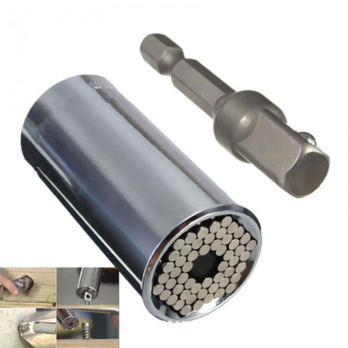 11-32mm Universal Wrench Socket Repair Ratchet Tools Silver