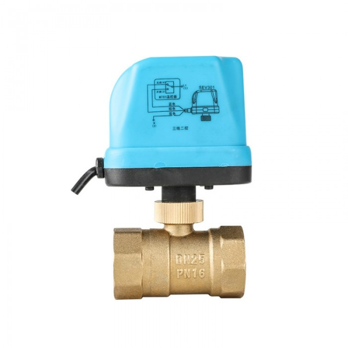 "1"" Motorized Electric Brass Ball Valves 3 Wir..."