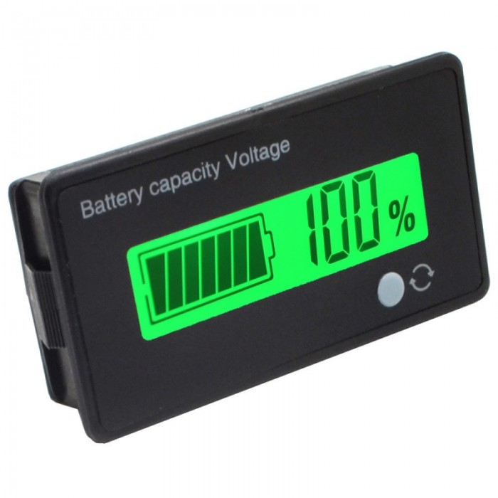 12V 3 String Lithium Battery Capacity Indicator LCD Digital Voltmeter