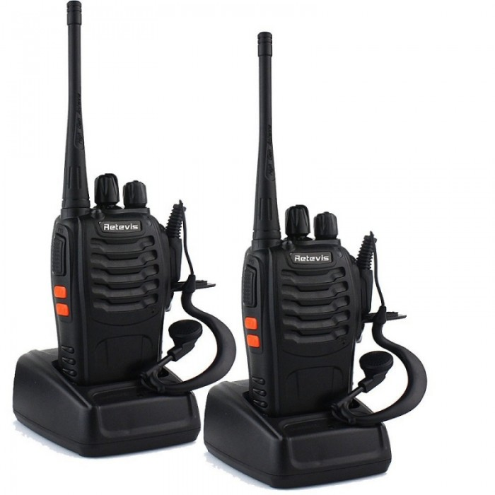 1 Pair Retevis H-777 Walkie Talkie UHF 400-470MHz 3W 16CH w/ Flashlight