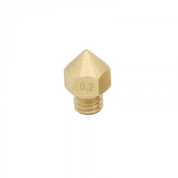 0.2mm 3D Printer Extruder Brass Nozzle for MK8 Makerbot 1.75mm Filament