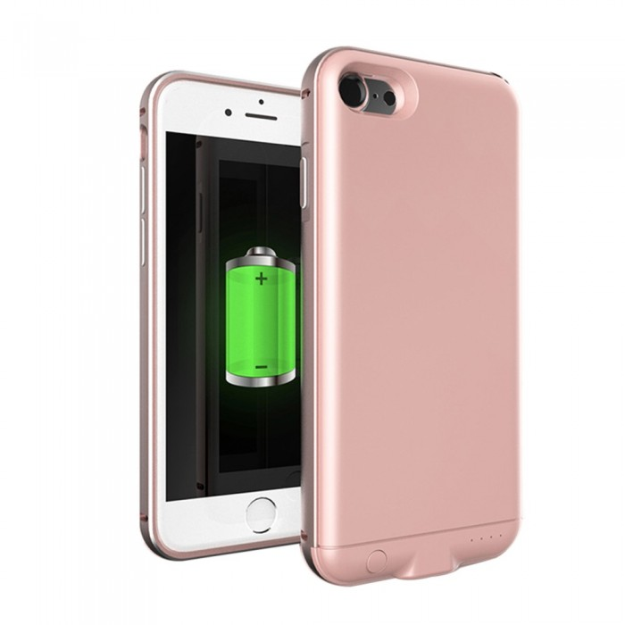 For iPhone 7 8 3000mAh External Back Clip Battery External USB Port Power Bank Charger Pack Backup Battery Case