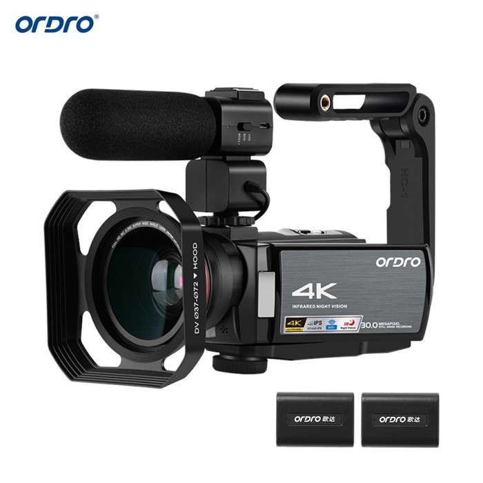 ORDRO HDV-AE8 4K WiFi Digital Video Camera Camcorder DV Recorder